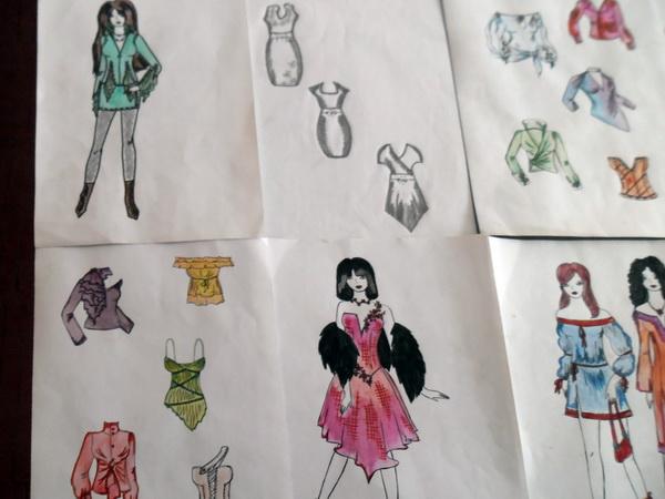 Виставка кращих учнівських ескізів моделей легкого одягу