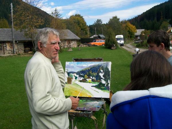 Ліцеїсти побували на пленері художників «Синевир – 2014»