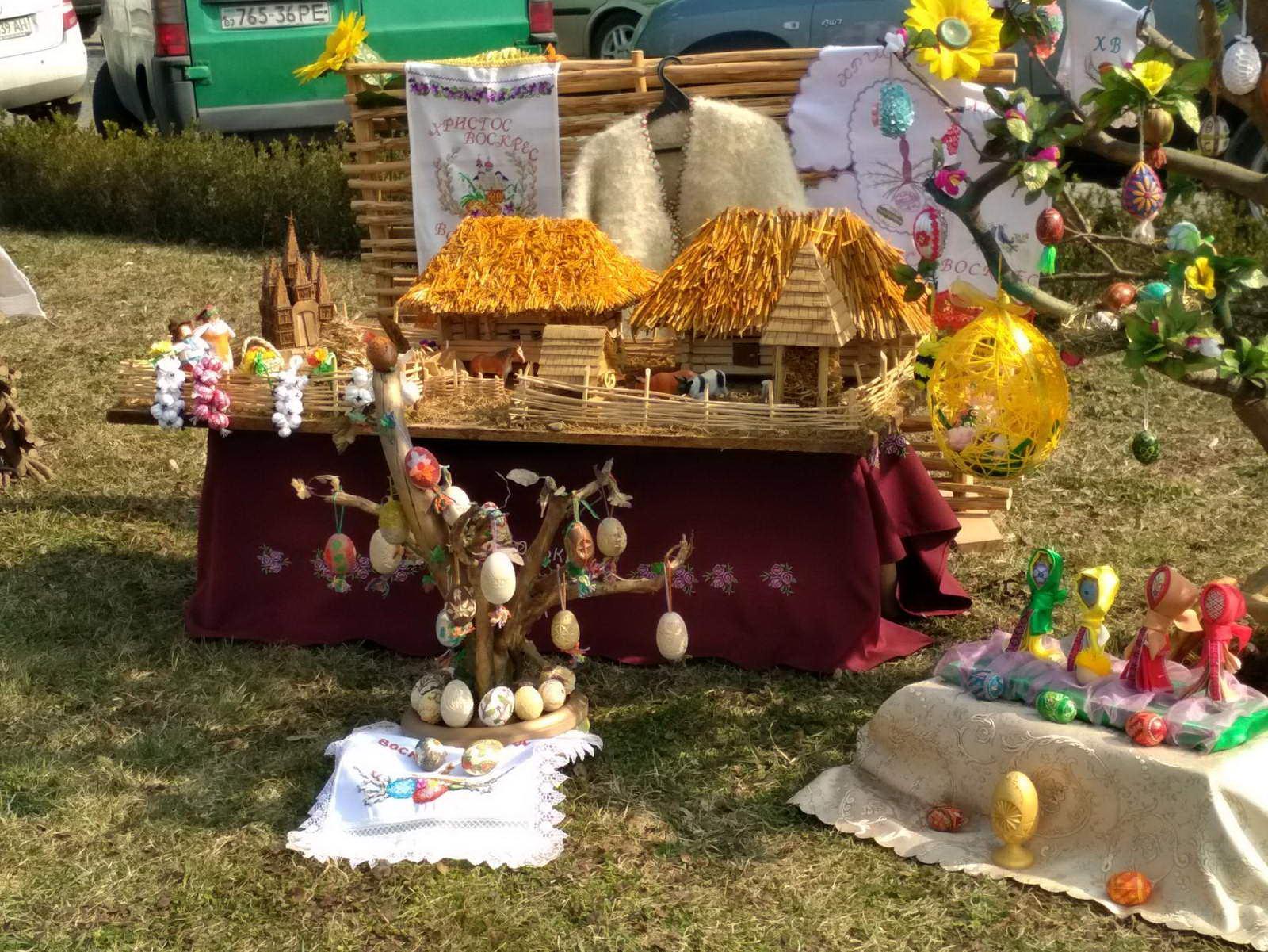 «Великоднє дерево» на конкурсі «Воскресни писанко» у місті Ужгороді