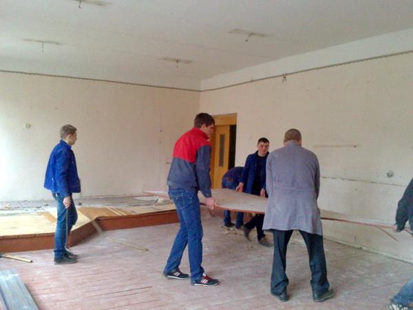 Розпочато реконструкцію кабінету будівельних технологій