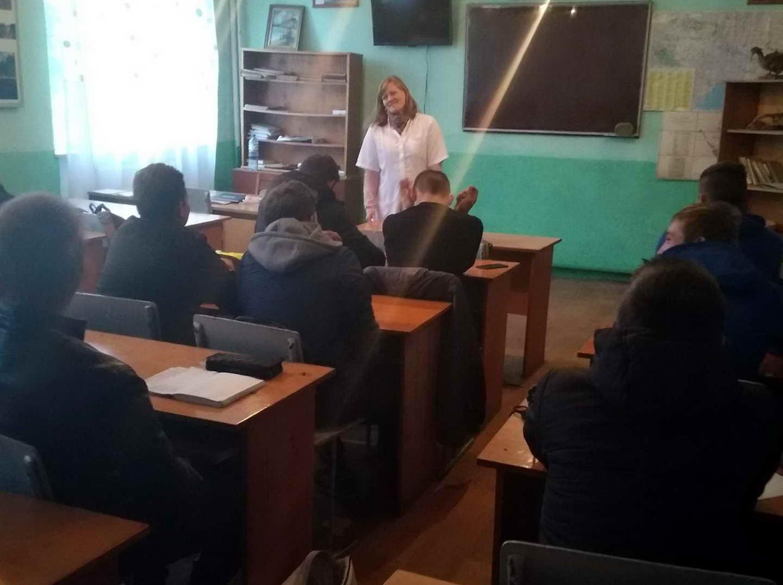 Проведені бесіди з учнями ліцею на тему: «Профілактика інфекційних захворювань»