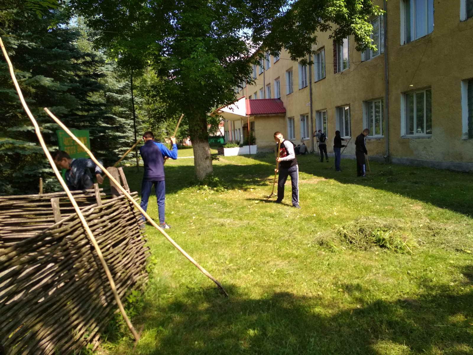 Учні ліцею під керівництвом класних керівників та майстрів виробничого навчання провели День довкілля